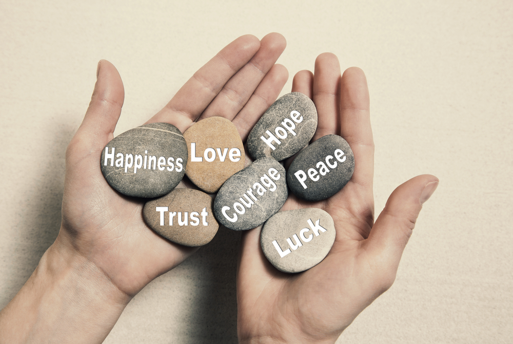 Happiness,Love,Courage,Luck,Peace,Trust,Hope,Wisdom, Success